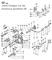 Joint torique vis de richesse carburateur